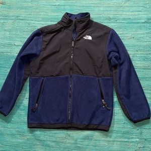 "The North Face navy blue Denali jacket ""boys XL"""